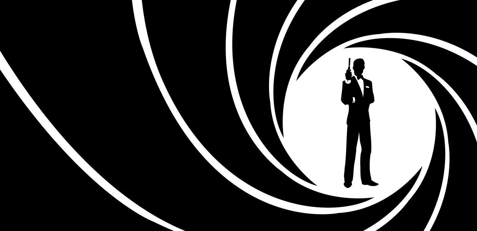 Logo bianco e nero theme song della colonna sonora di 007